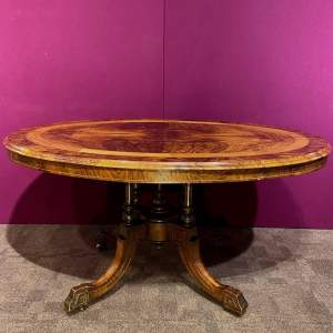 Victorian Inlaid Rosewood Snap Top Loo Table