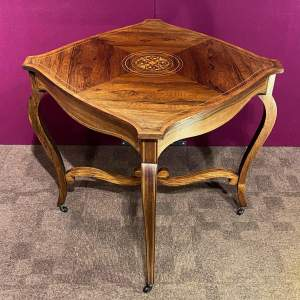 Late 19th Century Inlaid Rosewood Occasional Table
