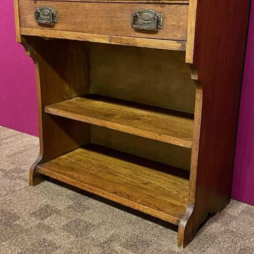 Arts and Crafts Oak Bureau Cabinet image-6