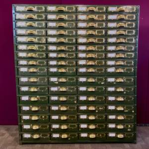 Bank of 64 Industrial Collectors Drawers