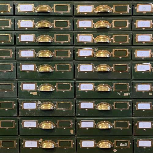 Bank of 64 Industrial Collectors Drawers image-2