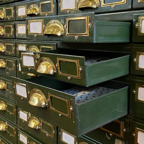Bank of 64 Industrial Collectors Drawers image-3