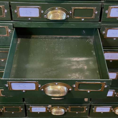 Bank of 64 Industrial Collectors Drawers image-4