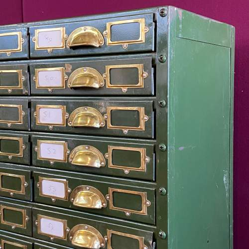 Bank of 64 Industrial Collectors Drawers image-5