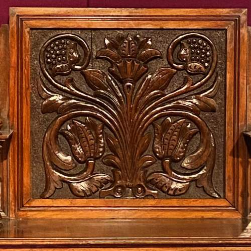 19th Century Heavily Carved Oak Cabinet image-2