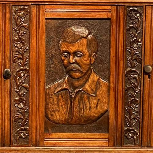19th Century Heavily Carved Oak Cabinet image-3