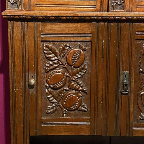 19th Century Heavily Carved Oak Cabinet image-4