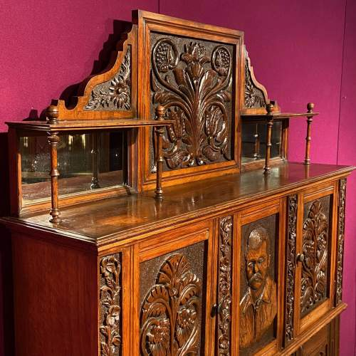 19th Century Heavily Carved Oak Cabinet image-5