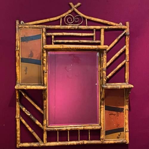 Victorian Bamboo Ornamental Mirror image-1