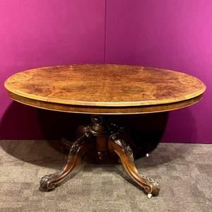 Victorian Burr Walnut Loo Table