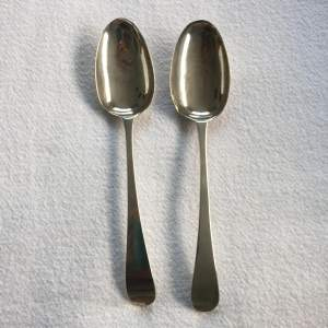 Pair of Georgian Silver Tablespoons