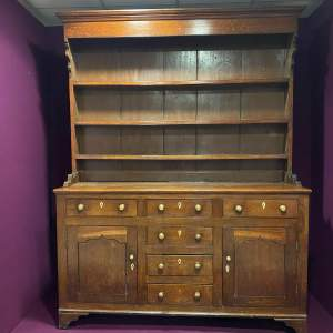 Georgian Oak Dresser with Original Plate Rack