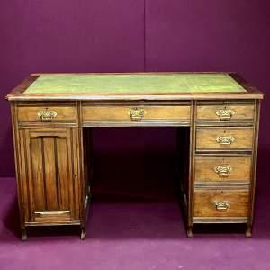 Edwardian Walnut Desk Circa 1910