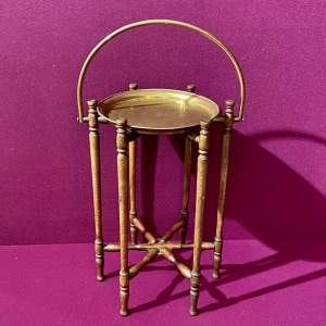 Early 20th Century Brass Tray on Folding Stand