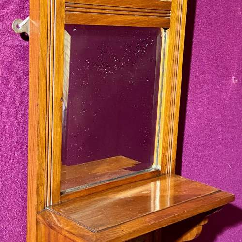 Early 20th Century Carved Valet Mirror image-4