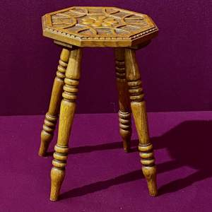 Small Carved Wooden Stool