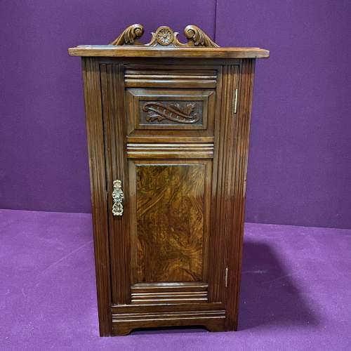 Edwardian Walnut Bedside Cabinet image-1