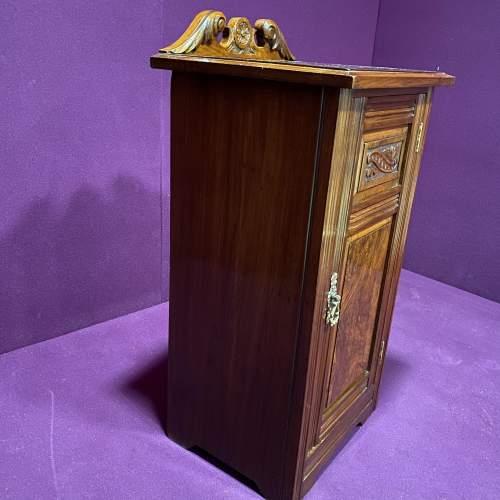 Edwardian Walnut Bedside Cabinet image-4