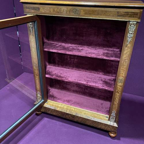 Edwardian Inlaid Walnut Display Cabinet image-2