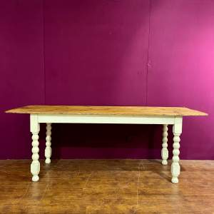 Early 20th Century Pine Country Kitchen Table