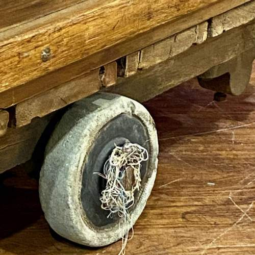 Mid 20th Century English Wooden Industrial Trolley image-6