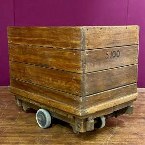 Mid 20th Century English Wooden Industrial Trolley