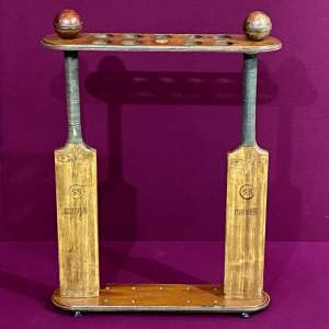 Unusual Handmade Novelty Cricket Stick Stand