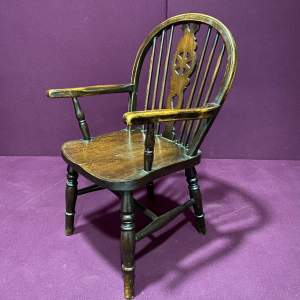 1930s Vintage Windsor Childs Chair
