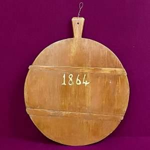 19th Century Large European Cheeseboard 1864
