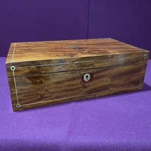 Late Victorian Mahogany Writing Box