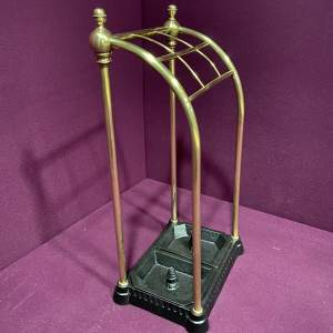 Late Victorian Brass Stick Stand