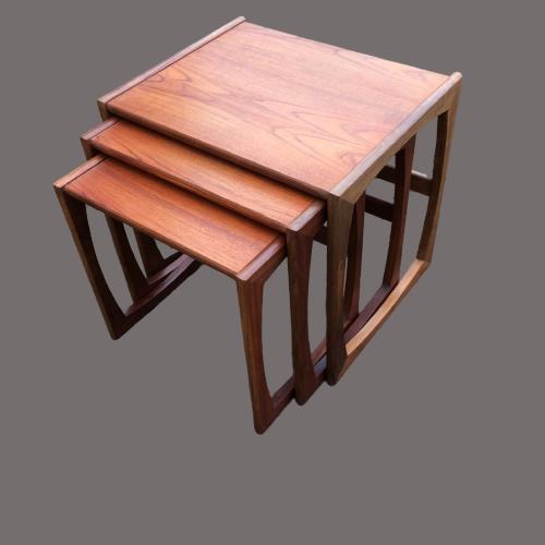 G Plan Quadrille Teak Nest Of Tables image-1