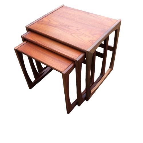 G Plan Quadrille Teak Nest Of Tables image-3