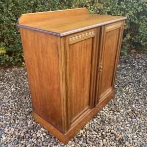 Edwardian Mahogany Two Door Cupboard