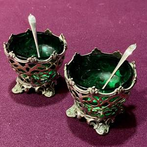 Pair of Victorian Silver Plated Salts