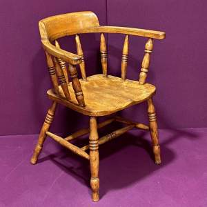 Early 20th Century Elm and Beech Captains Chair
