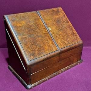 Victorian Walnut Stationery Desk Cabinet