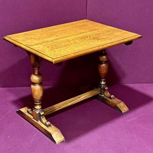 English Golden Oak Low Table