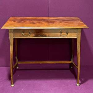 Arts and Crafts Mahogany Side Table with Drawer