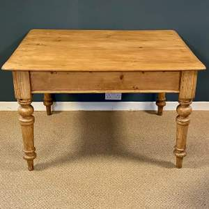 Victorian Pine Plank Top Kitchen Table