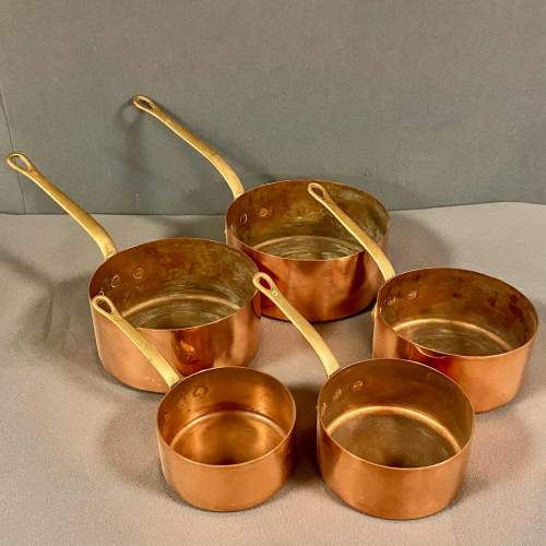 Set of Five French Copper Pans image-2