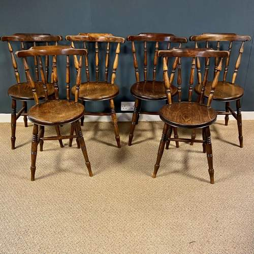 Matching Set Of Six Victorian Windsor Ash And Elm Chairs image-1
