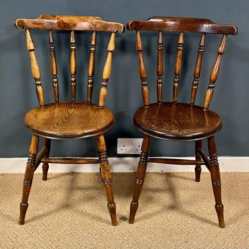 Matching Set Of Six Victorian Windsor Ash And Elm Chairs image-2