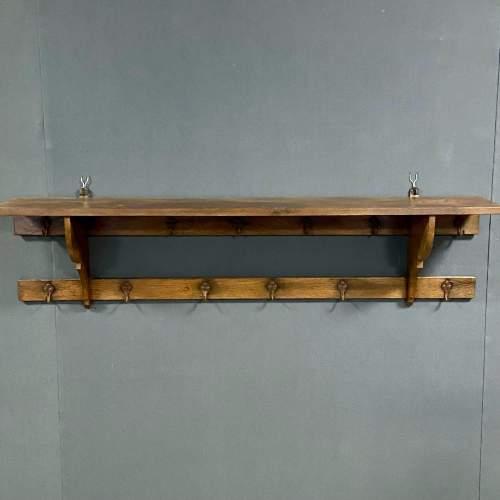 Vintage Oak Hall Coat Rack image-1