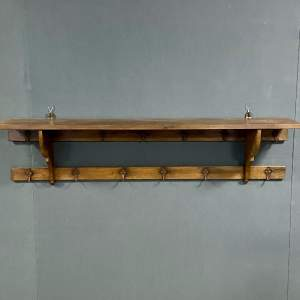 Vintage Oak Hall Coat Rack