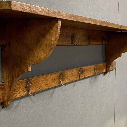 Vintage Oak Hall Coat Rack image-4