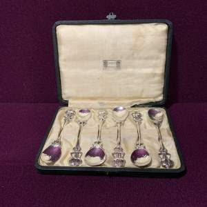Set of Six Liberty and Co Silver Plated Teaspoons