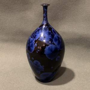 Richard Bideau Crystalline Glazed Pottery Bottle