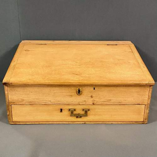 Victorian Pine Table Top Clerks Desk image-2