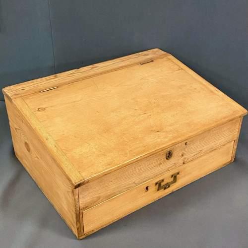 Victorian Pine Table Top Clerks Desk image-1
